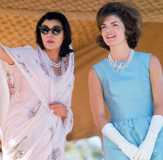 Gayatri Devi and Jackie Kennedy in 1962 (Photo by Art Rickerby/Time Life Pictures/Getty Images)